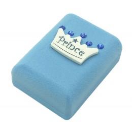 Μεγάλο Παιδικό Κουτί Γαλάζιο με Κορώνα