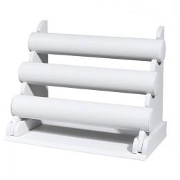 Τρίκλωνη  βραχιολιέρα - Λευκή